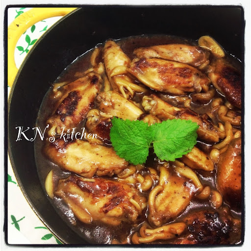 蠔油燘雞翼 Braised Chicken Wings in Oyster Sauce