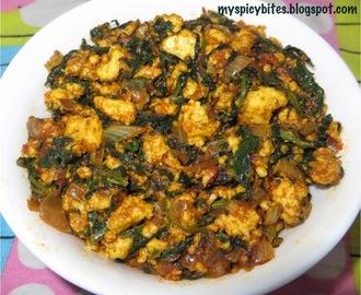 palak paneer bhurji paneer 200gm now add crumbled paneer and