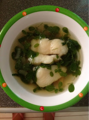 Dory in ginger soup