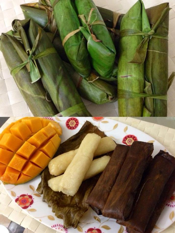 Suman Malagkit (Sticky Rice Roll in Banana Leaves)