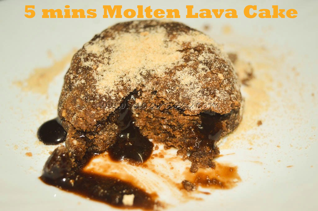 No Bake, 2 Ingredient Molten Choco Lava Cake