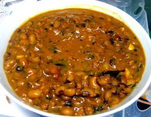 Punjabi Lobia masala (Black-eyed peas or cowpea in a spicy gravy sauce)