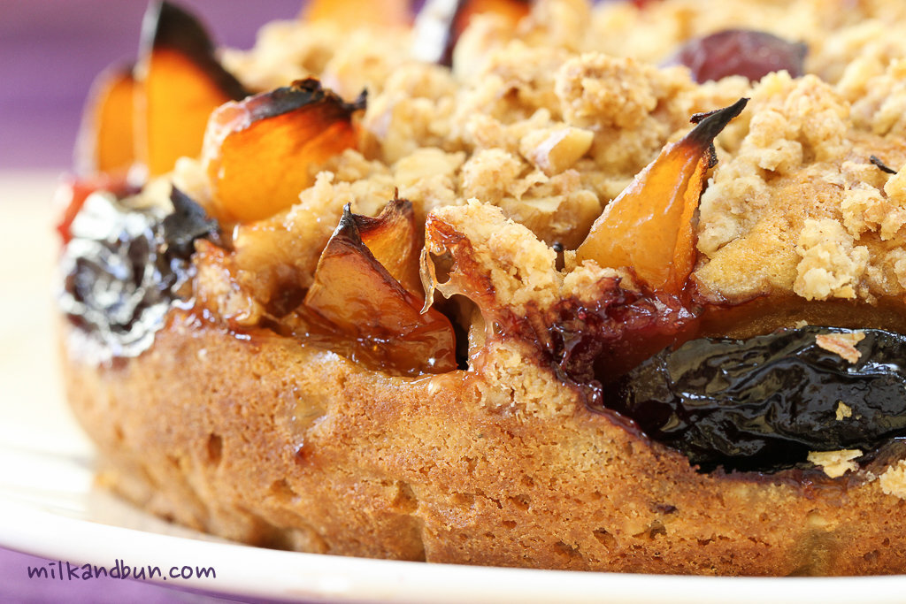 Spiced Cake with plums and streusel