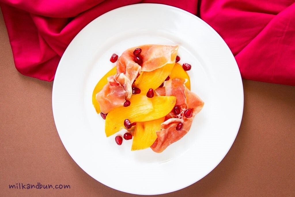 Persimmon&Jamon Salad for Women's Day