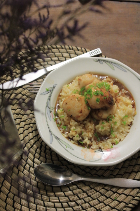 Scallop risotto with marsala