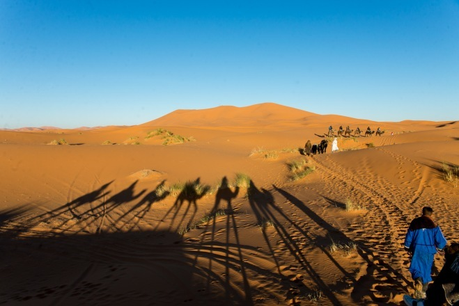 New Year's Eve in the Sahara Desert, Morocco
