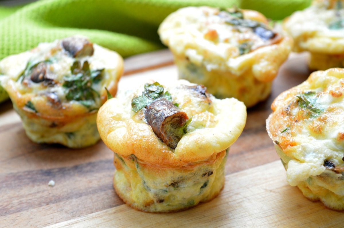 Sausage, Feta Cheese & Parsley Breakfast Cups