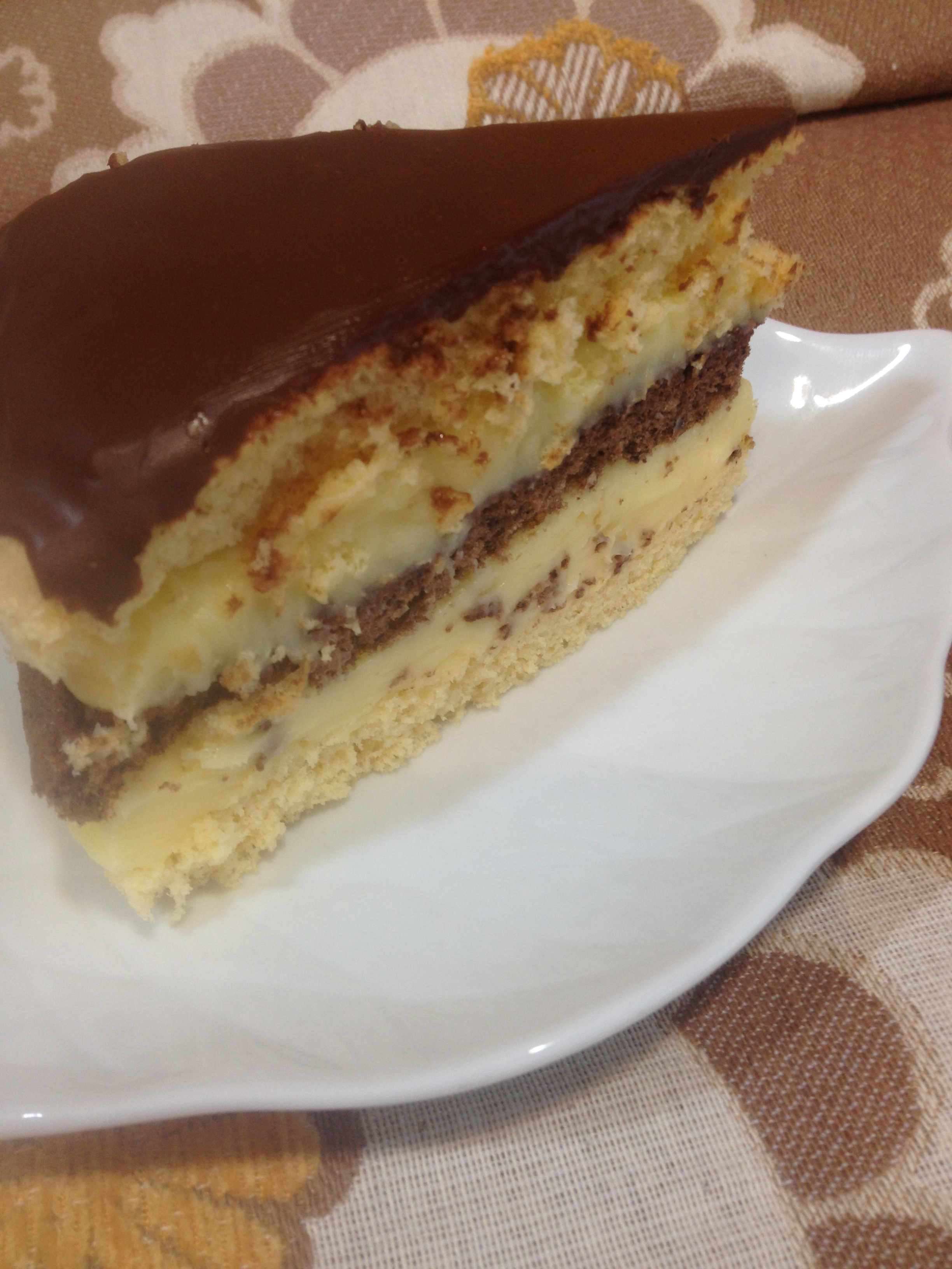 'Boston Cream Pie Cake'.