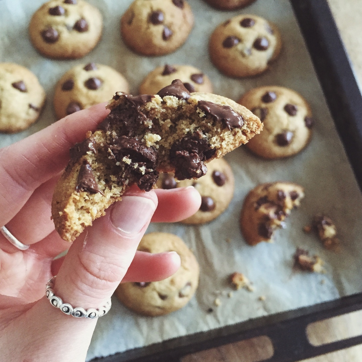 Healthy Choc Chip Cookies (or cookie dough for the rebels)