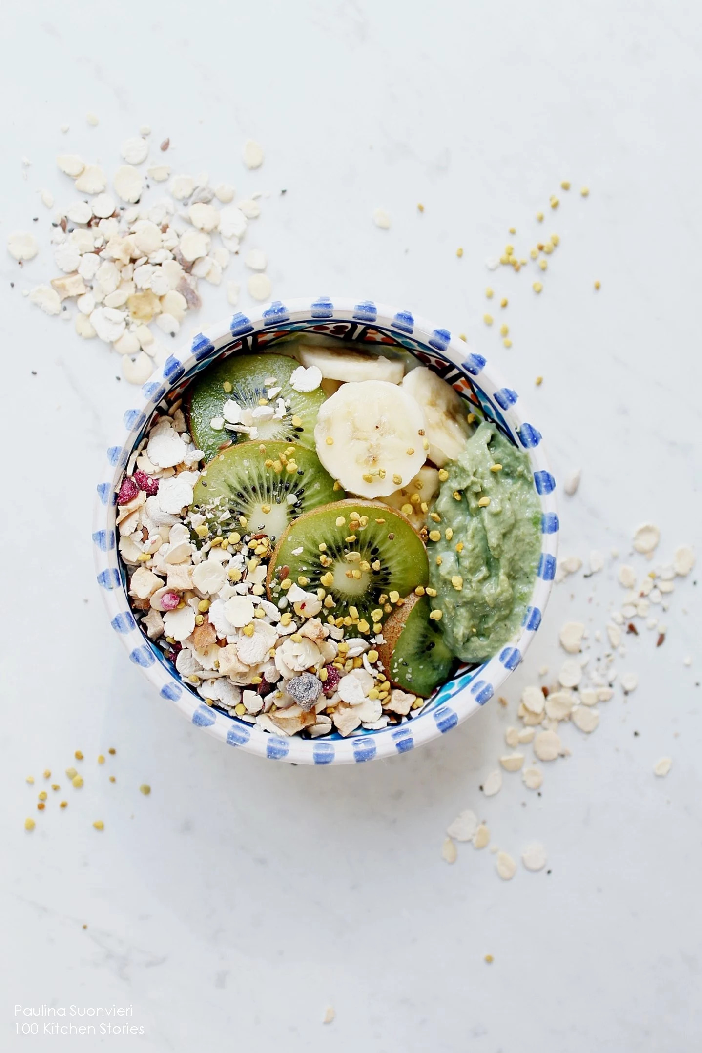 Vegan Oatmeal with Protein RIch Granola & Raw Avocado Cream