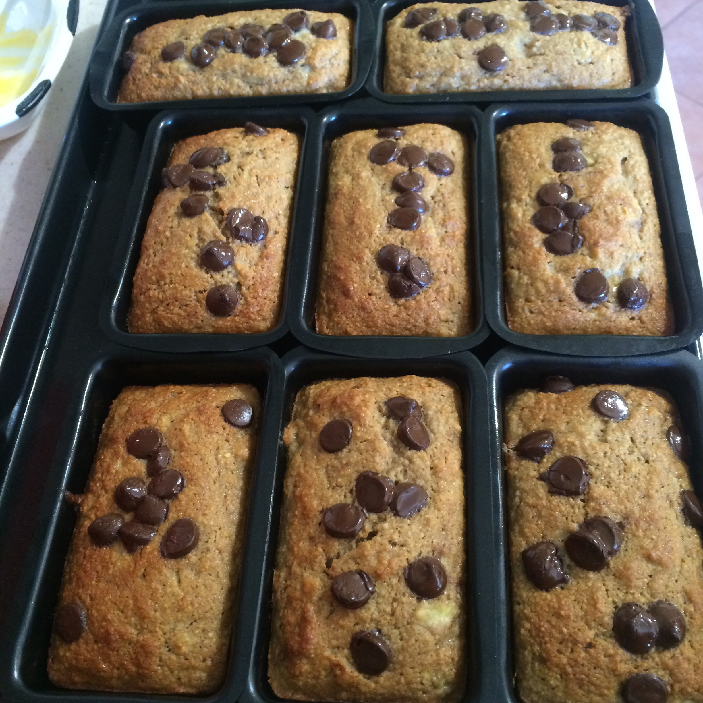 Banana Loaves with chocolate chips