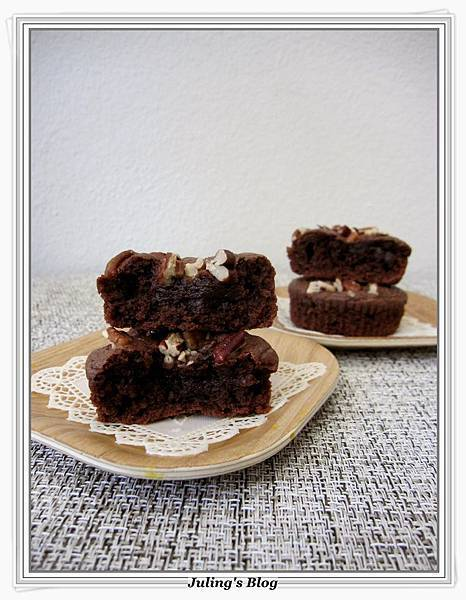 榛果巧克力布朗尼(Nutella brownies)