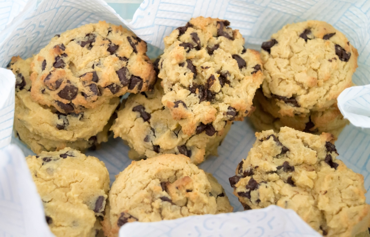 Baking with Chickpeas: Chocolate Chip & Nut Cookies