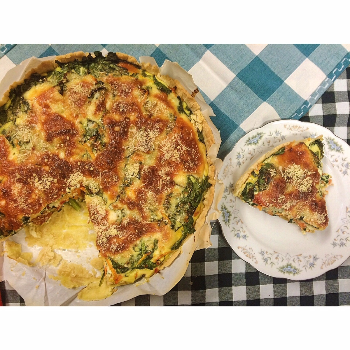 QUICHE DE VERDURAS Y YOGURT