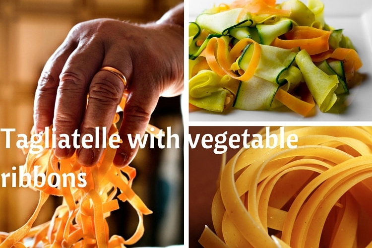 Veganuary: Tagliatelle with vegetable ribbons
