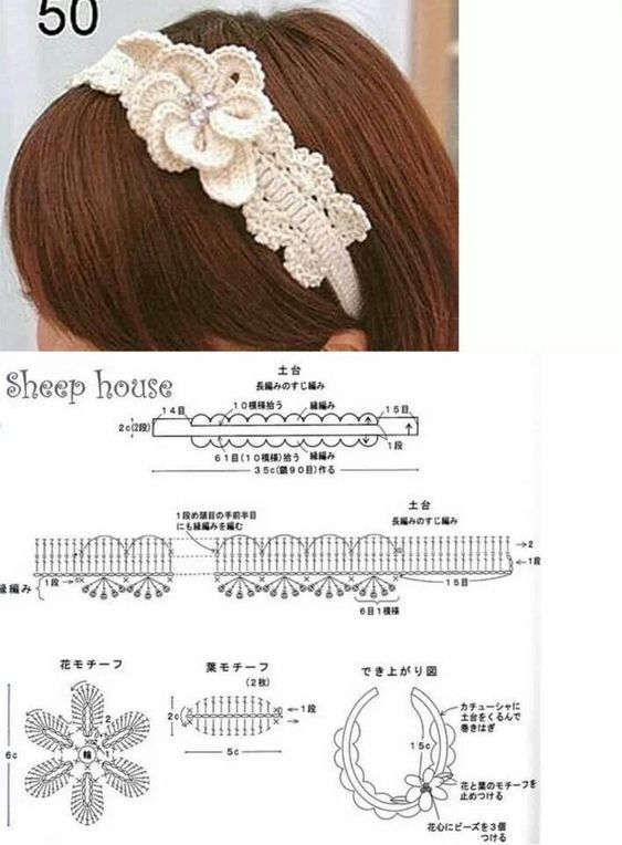 diademas a crochet