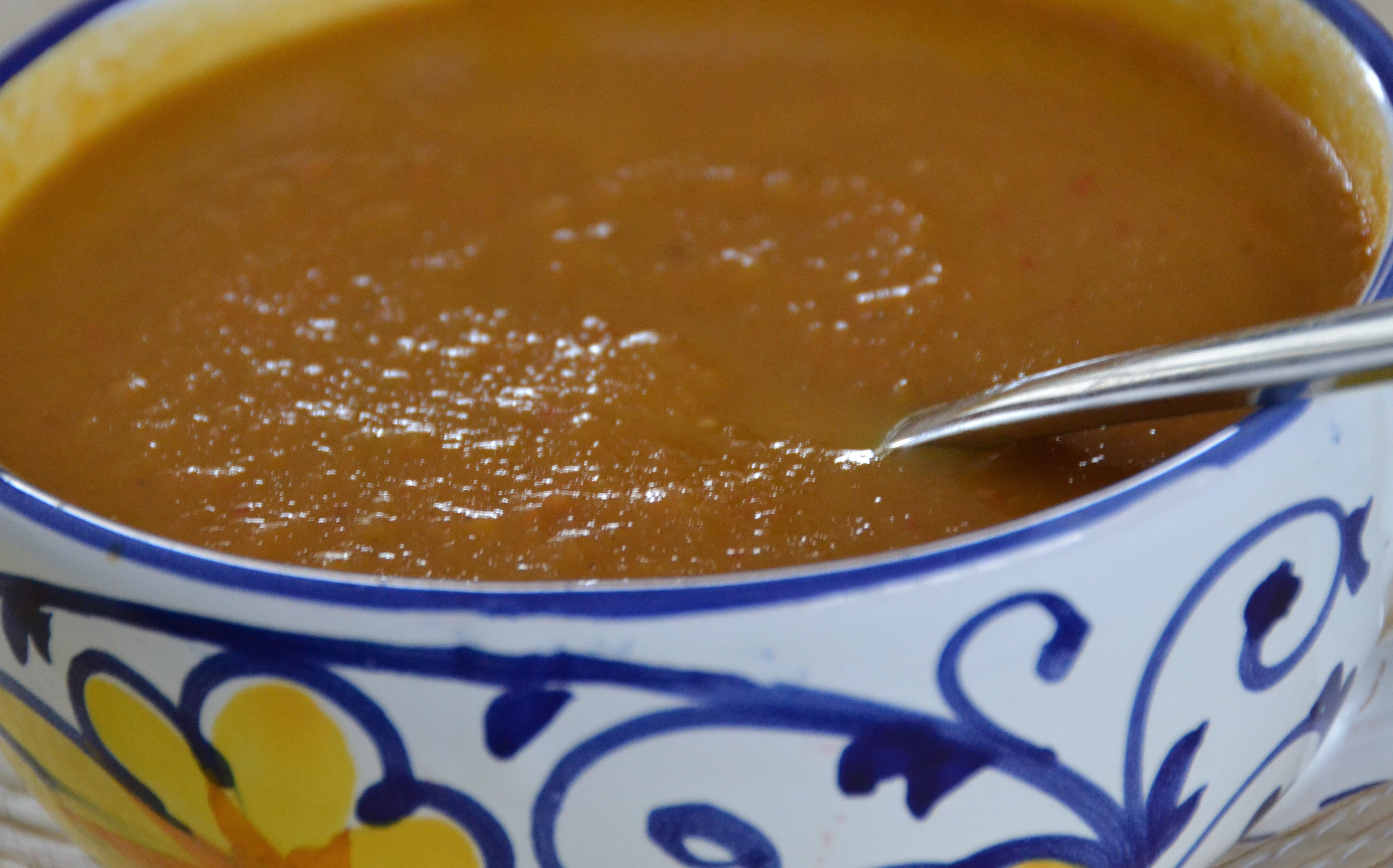 Butternut Squash, Carrot, Red Pepper and Apple Soup