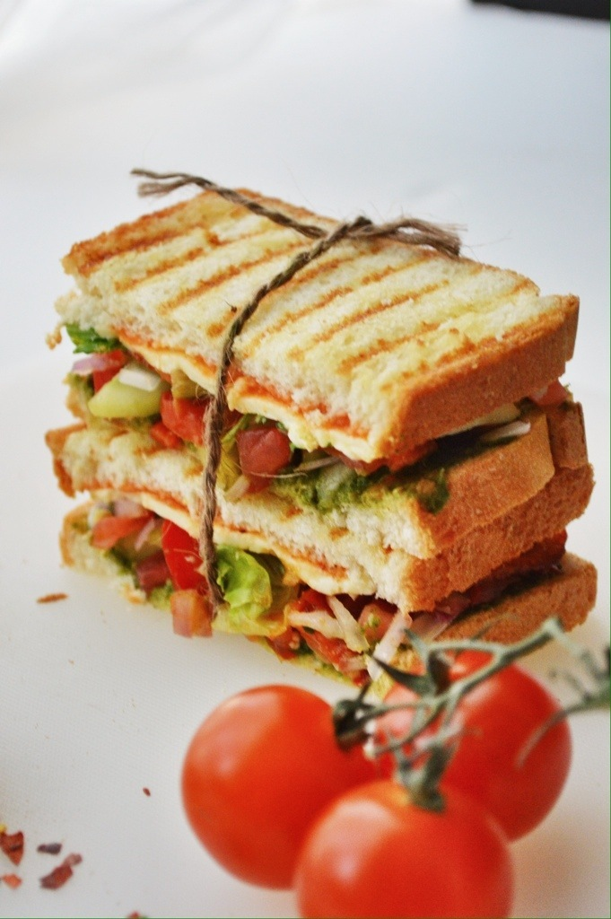 Spicy and Tangy Grilled Chutney sandwich