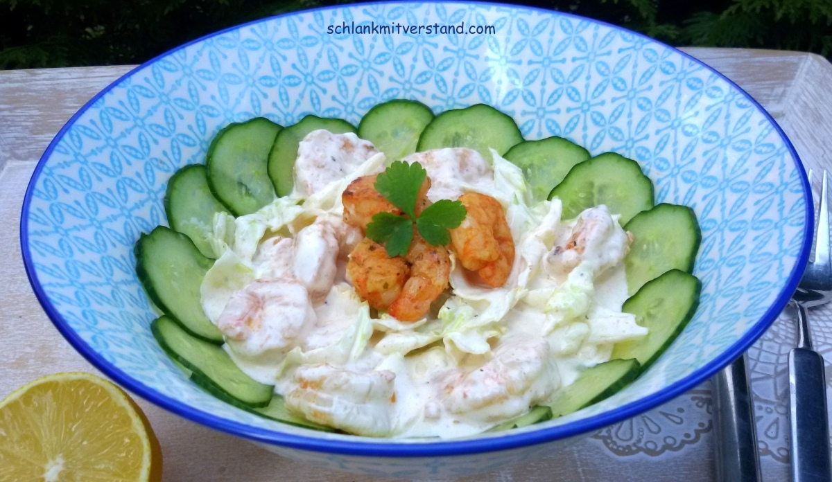 Garnelensalat mit Mayonnaise low carb