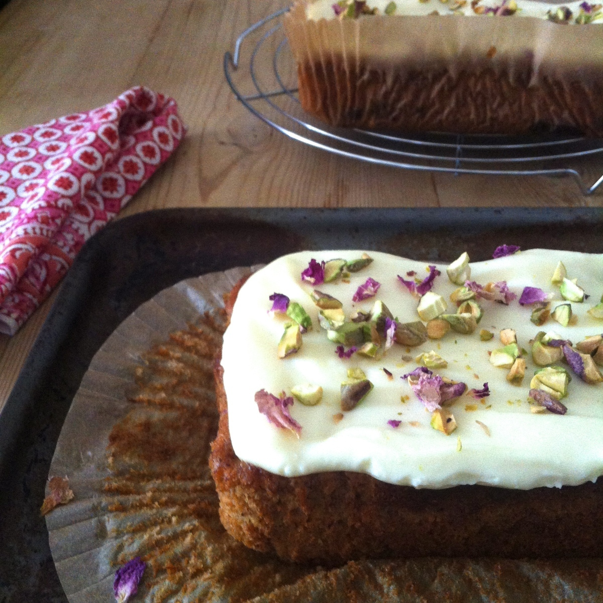 Masala Chai Banana Bread with Coconut Cream Cheese and Cardamom Icing