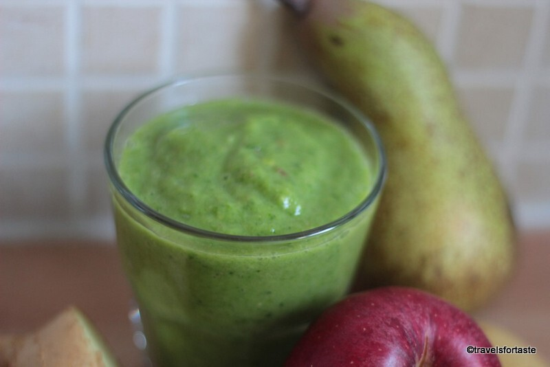 Avocado,Spinach and fruity Green Smoothie