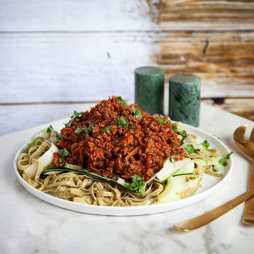 Sweet hot chili soy med tagliatelle
