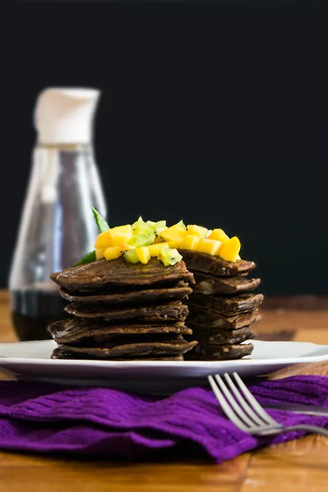 ESPONJOSOS HOT CAKES VEGANOS DE CHOCOLATE
