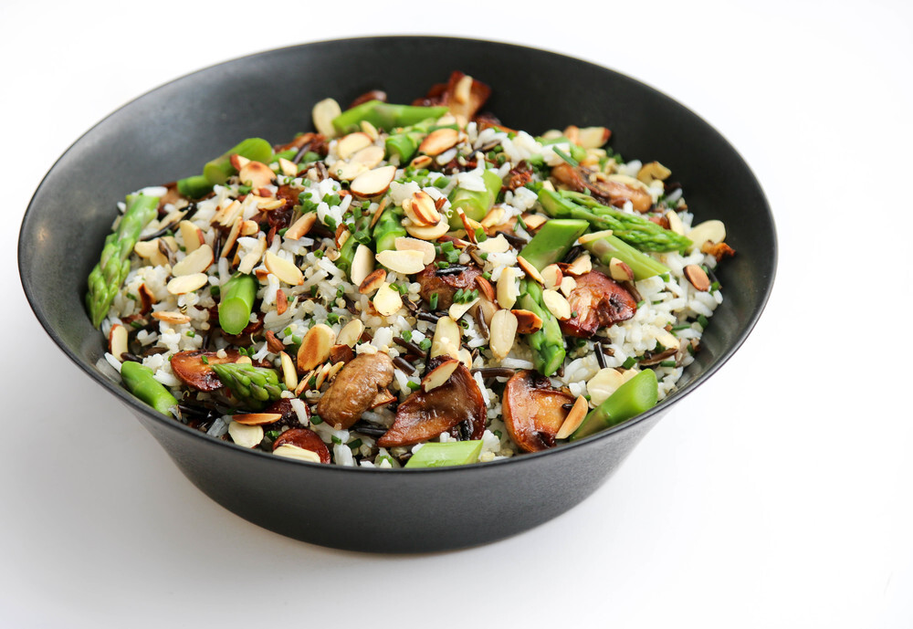 Wild Rice & Quinoa Salad with Mushrooms & Asparagus