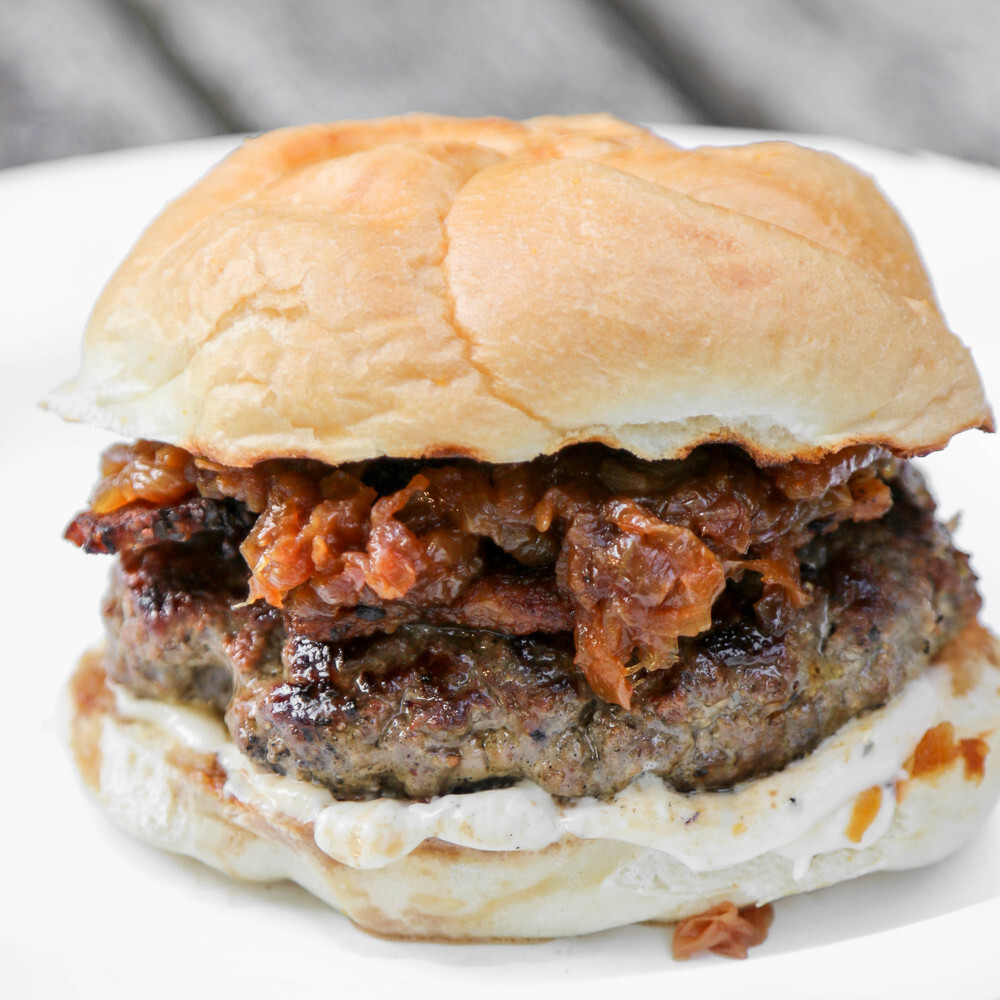 Bacon Bison Burgers