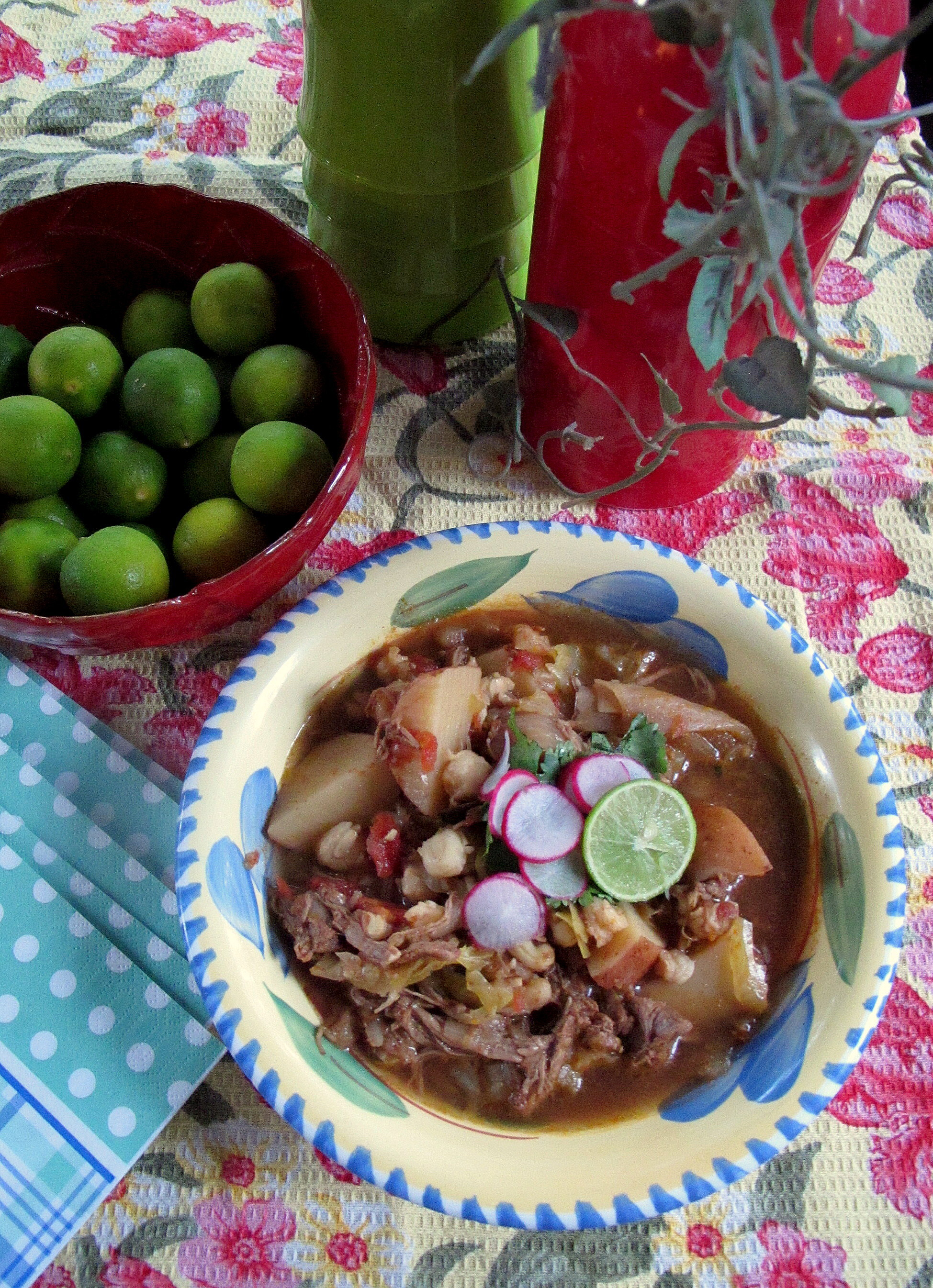 I went to the racetrack today but it was shut, so I just pushed all my money through the gate. — W.C. Fields and Crockpot Beef Pozole (Mexican Stew)