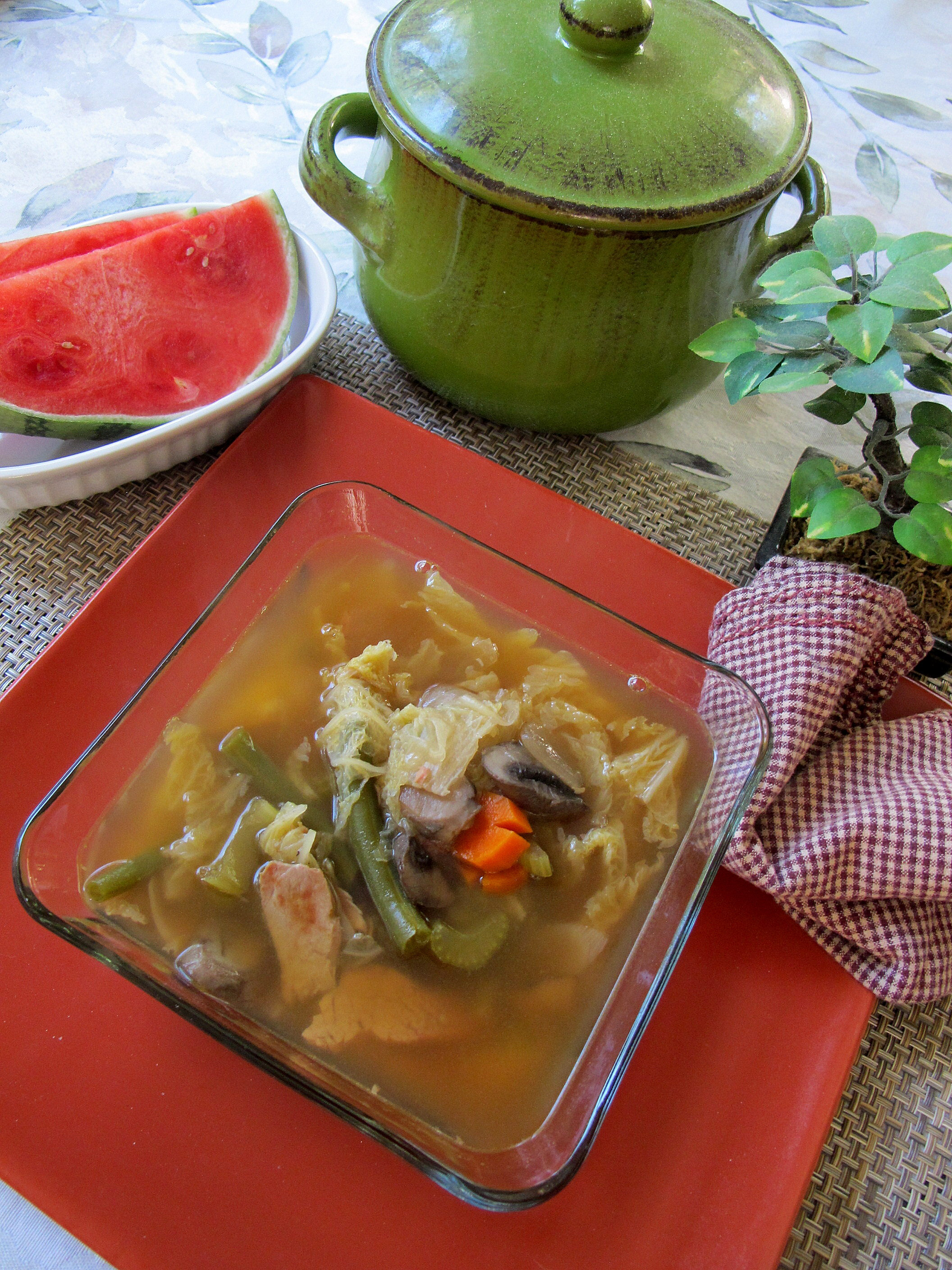 All journeys have secret destinations of which the traveler is unaware. – Martin Buber and Napa Cabbage and Pork Soup