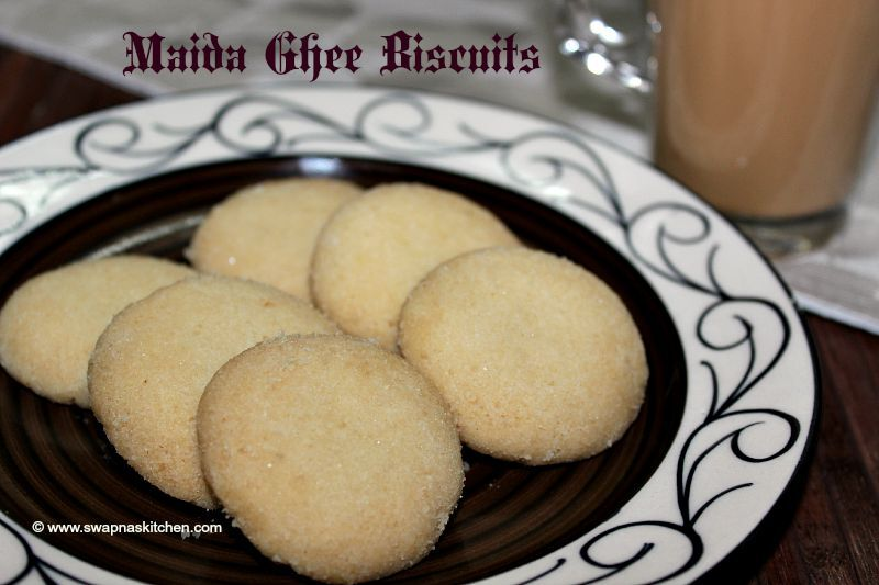 Ghee biscuits (eggless)
