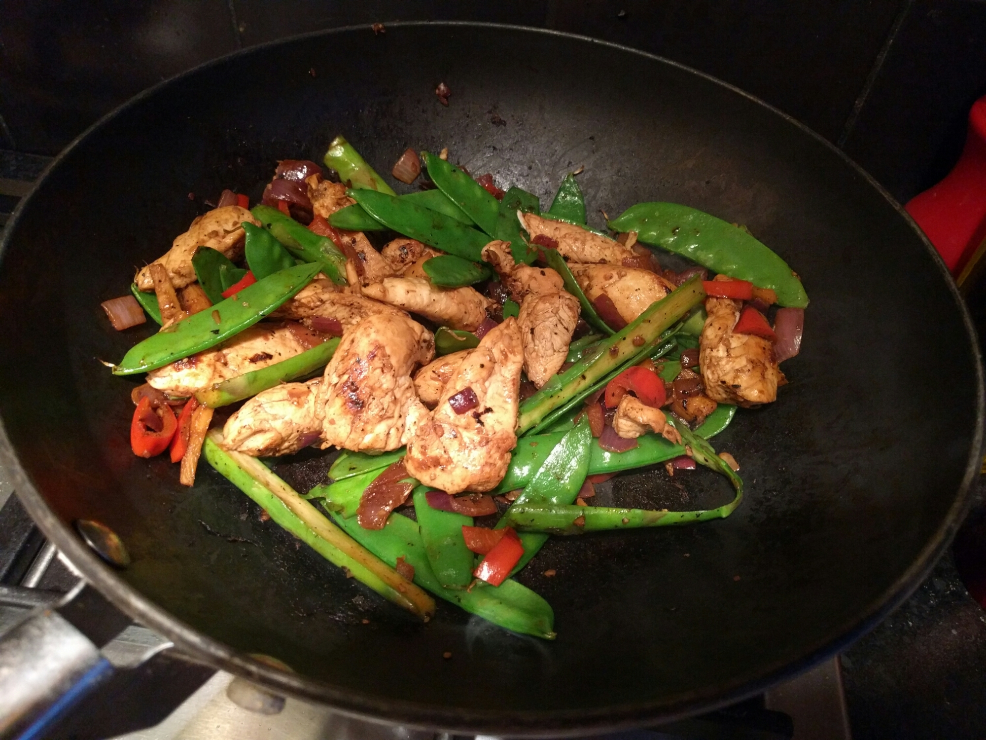 Healthy, easy spicy chicken stir-fry