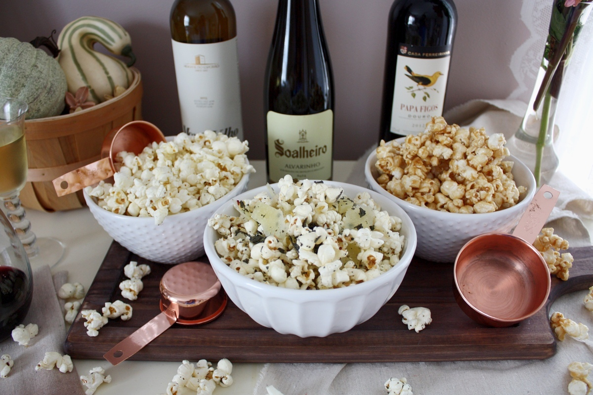 3 Perfect Popcorn + Wine Pairings for a TV Night In