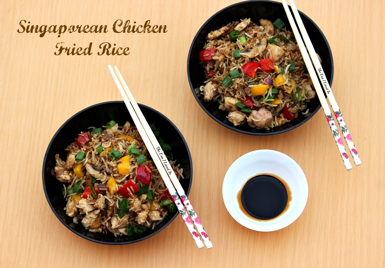 Singaporean Chicken Fried Rice