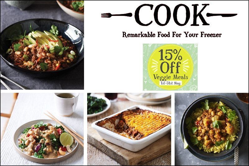 Going Meat Free in May with COOK's Frozen Vegetarian Range