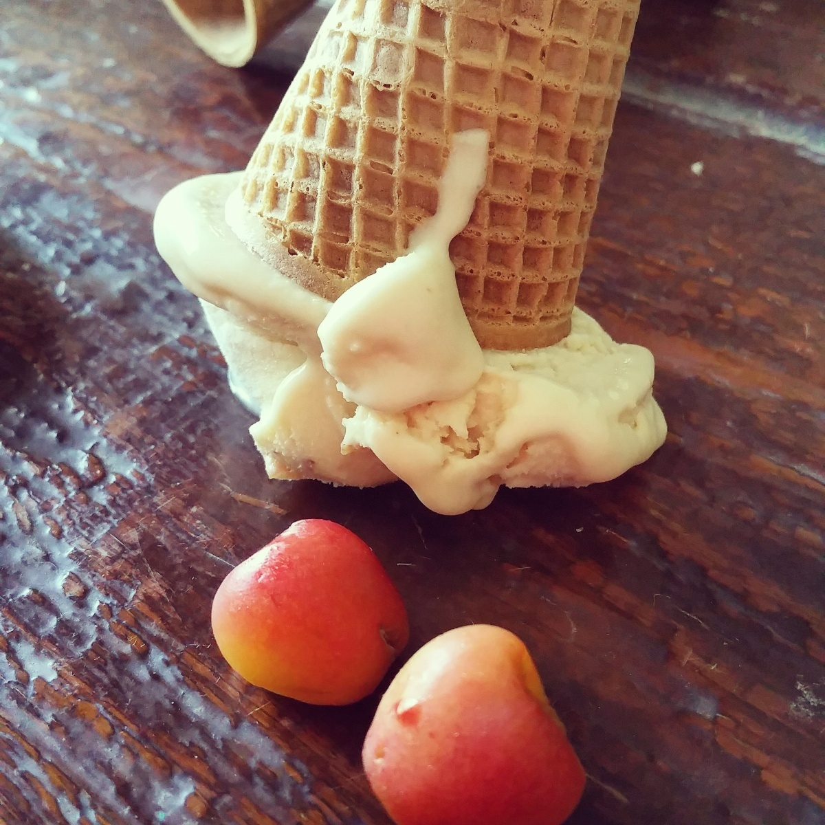 ICE CREAM! | Home Churned Sour Cherry & Whiskey Ice Cream