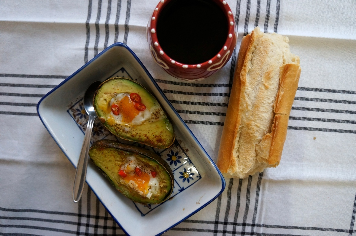 Quail Eggs Baked in Avocado