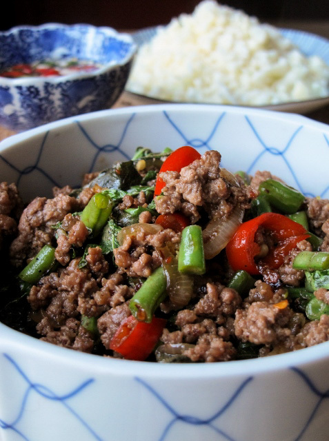 Phat Kaphrao (Thai Beef Mince with Basil & Chilli)