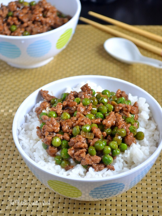 Beef and Peas Rice Bowls