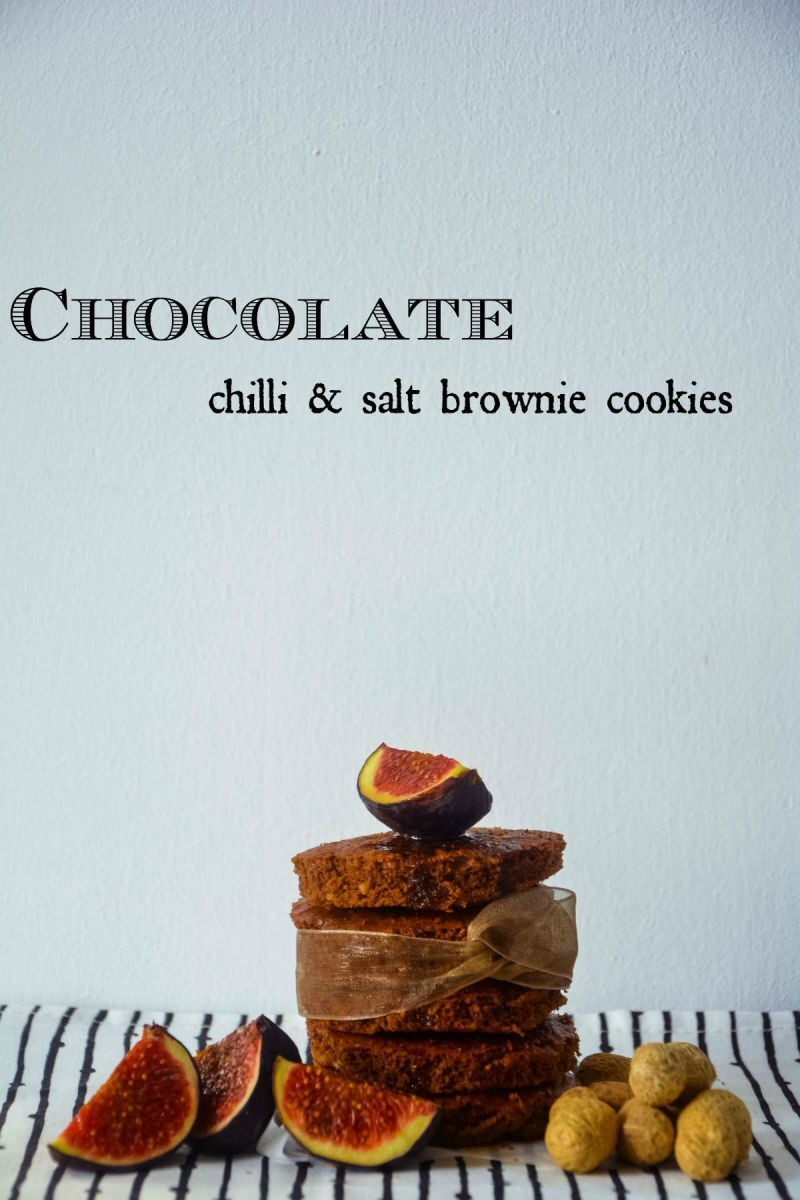 salt & chilli brownie cookies