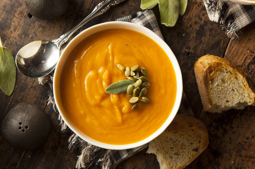 Carrot ginger and orange soup