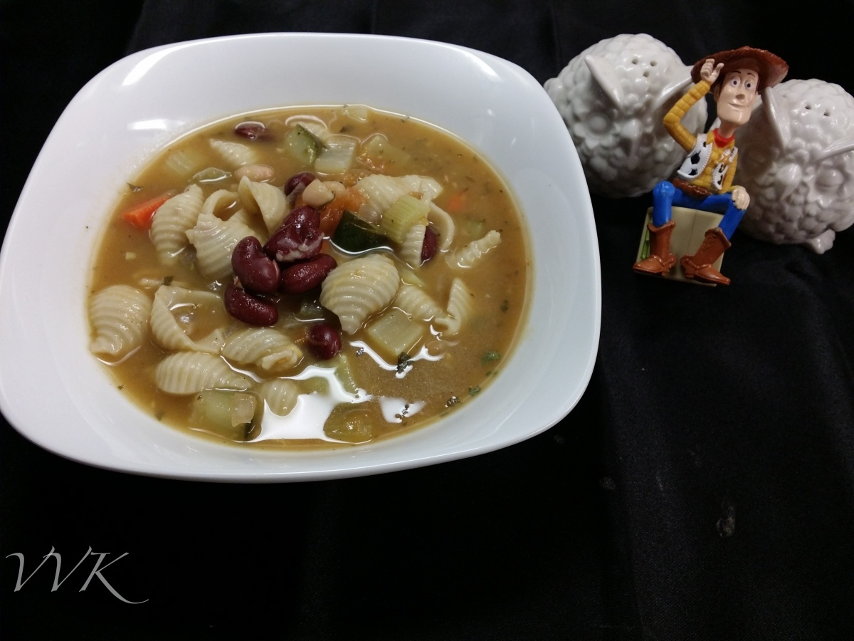 Minestrone Soup – Guest post from Vidhya – Vidhya Vegetarian Kitchen