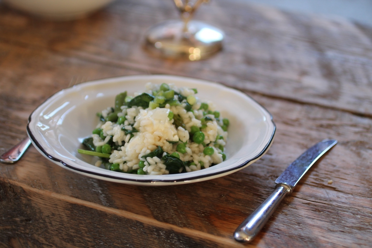 Spring Vegetable Risotto with Feta