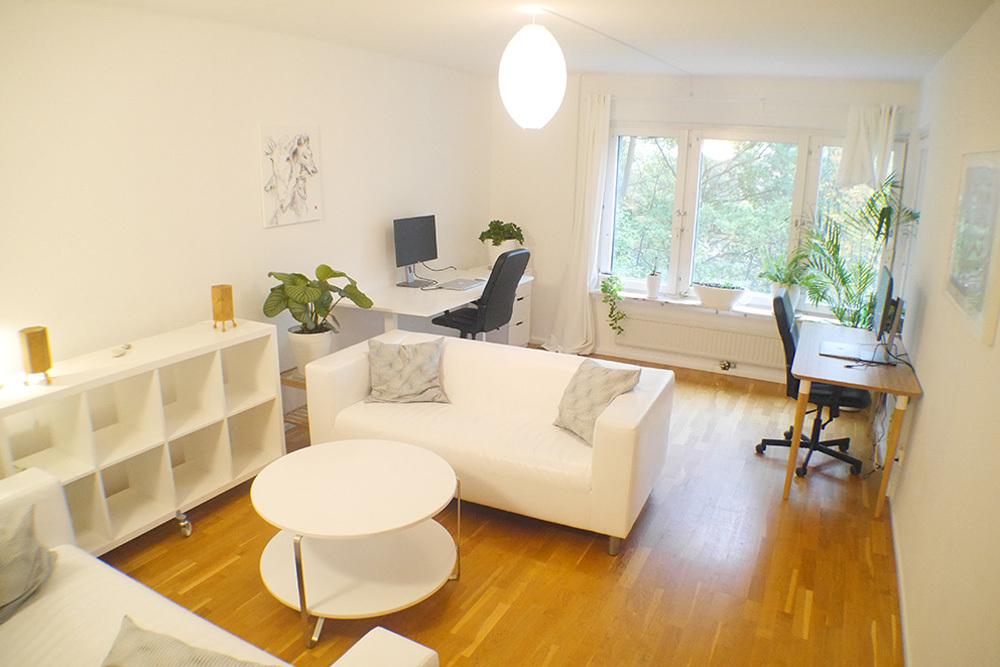 Lummiga lugn lägenhet i Sundbyberg