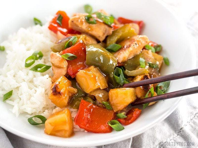 Sheet Pan Sweet and Sour Chicken