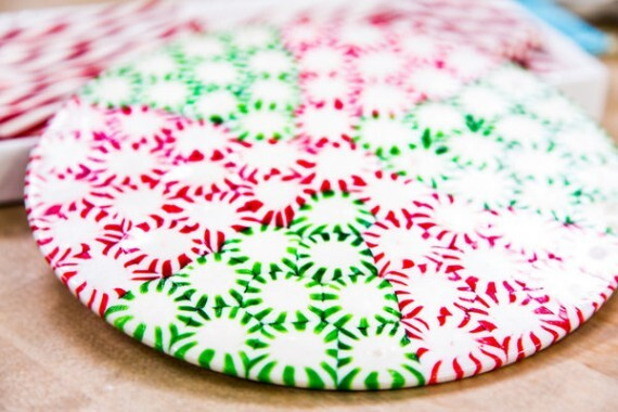 Christmas Peppermint Plate Centrepiece