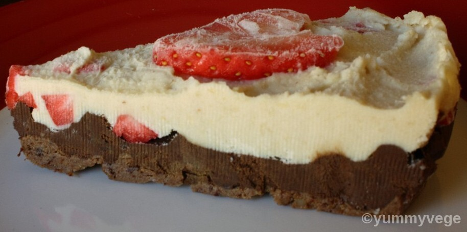 Strawberry Chocolate Vegan Cheesecake
