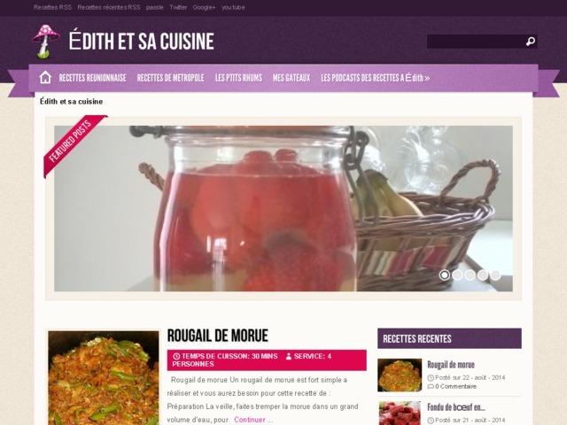 Édith et sa cuisine - Cuisine familiale au goût oté avec Édith : Édith et sa cuisine