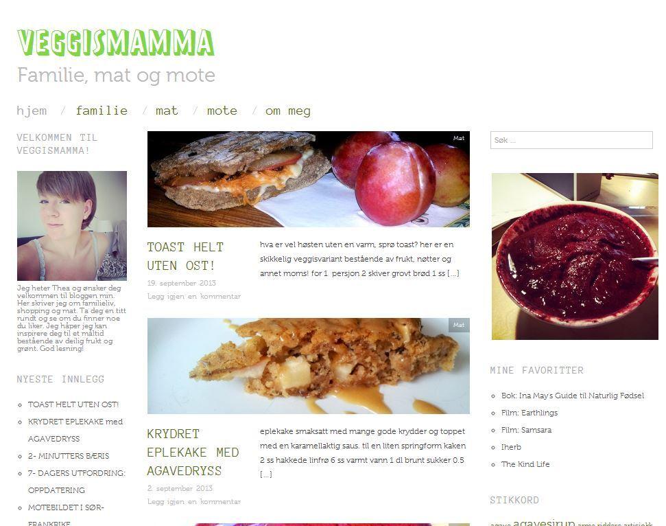 Veggismamma | Familie, mat og mote
